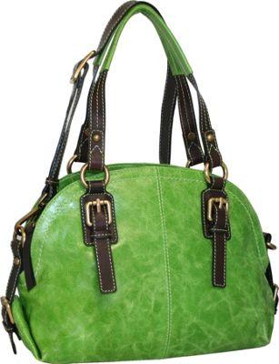 Nino Bossi Bonnie Bowler Apple Green - Nino Bossi Leather Handbags