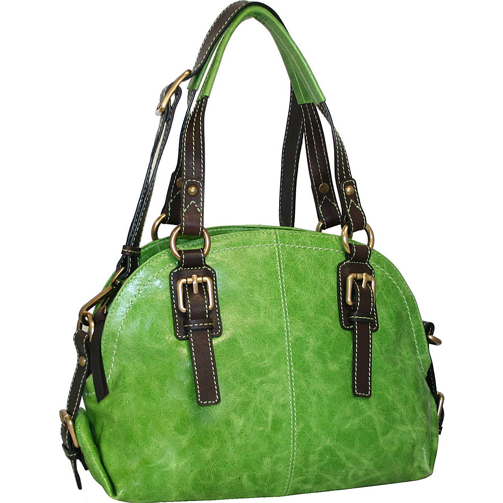 Nino Bossi Bonnie Bowler Apple Green - Nino Bossi Leather Handbags