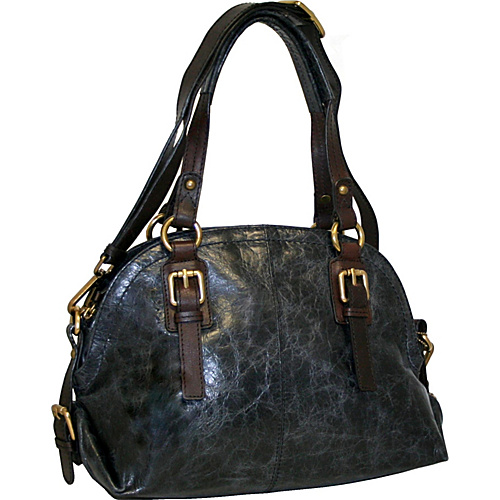 Nino Bossi Bonnie Bowler Black - Nino Bossi Leather Handbags