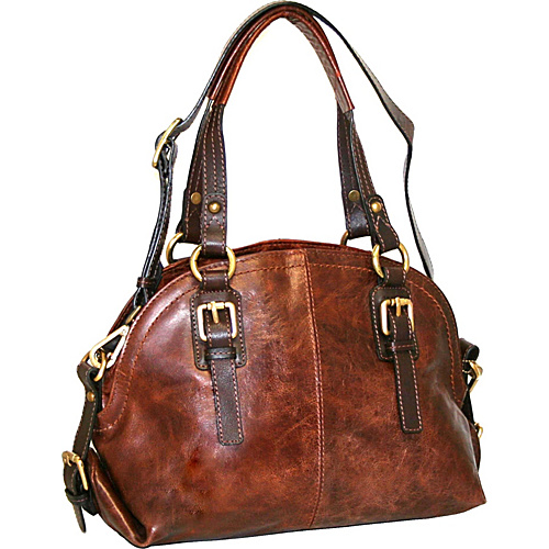 Nino Bossi Bonnie Bowler Chestnut - Nino Bossi Leather Handbags