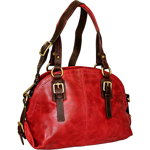 Nino Bossi Bonnie Bowler Red - Nino Bossi Leather Handbags