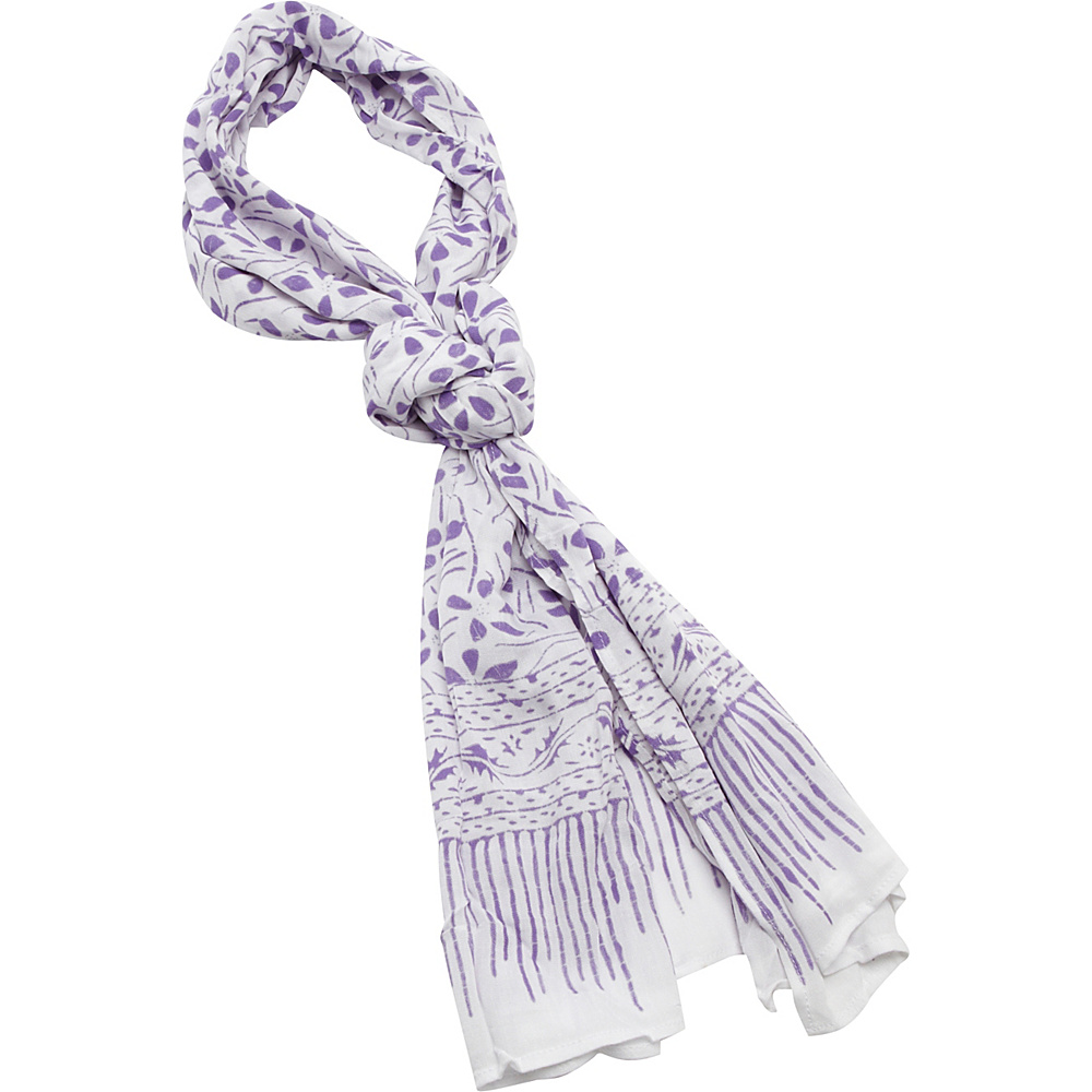 TLC you Batik Scarf Lavender TLC you Hats Gloves Scarves