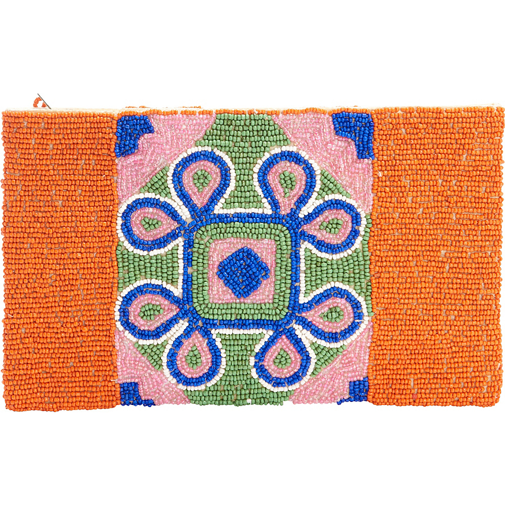 TLC you India Tile Clutch Orange Multi TLC you Fabric Handbags