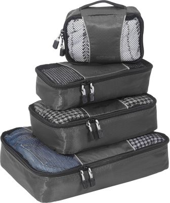 eBags Packing Cubes - 4pc Small/Med Set Titanium - eBags Packing Aids
