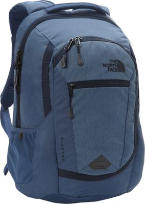 The North Face Pivoter Laptop Backpack Shady Blue Heather/Urban Navy - The North Face Business & Laptop Backpacks