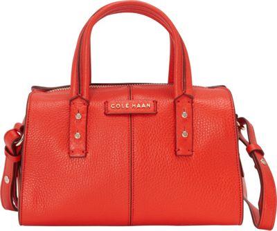 Cole Haan Emma Mini Satchel Crossbody Fiery Red - Cole Haan Designer Handbags