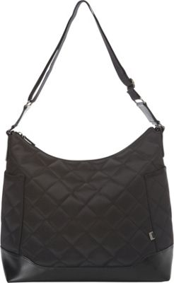 OiOi Black Diamond Quild Hobo Diaper Bag Black - OiOi Diaper Bags