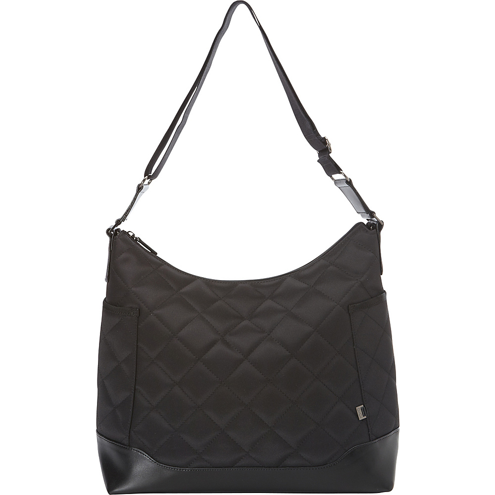 OiOi Black Diamond Quild Hobo Diaper Bag Black - OiOi Diaper Bags & Accessories