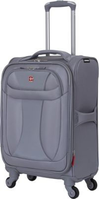 Wenger Travel Gear Lightweight 20 inch Spinner Grey - Wenger Travel Gear Softside Carry-On