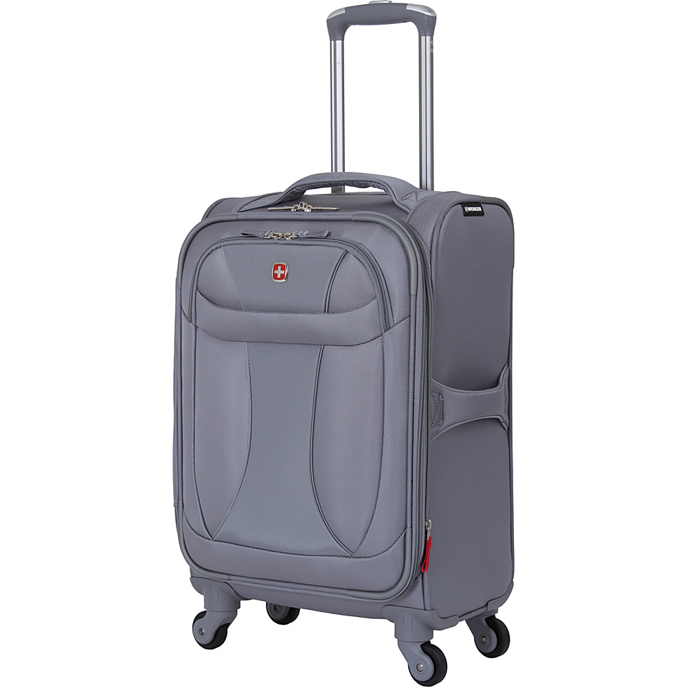 "Wenger Travel Gear Lightweight 20"" Spinner Grey - Wenger Travel Gear Softside Carry-On"