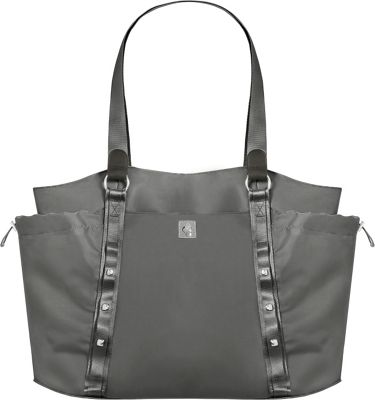 Mosey by baggallini Have It All - Weekender Bag Pewter - Mosey by baggallini Fabric Handbags