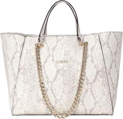 GUESS Nikki Chain Tote Python - GUESS Manmade Handbags