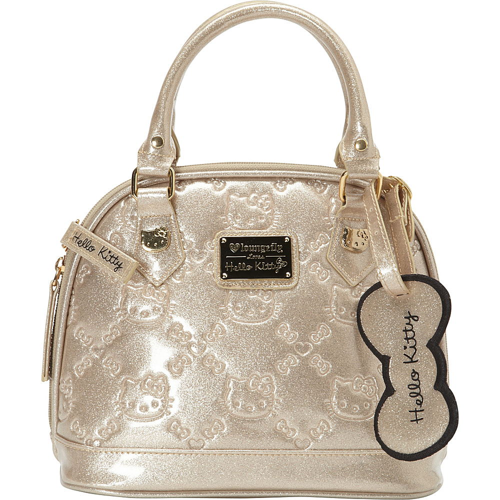 afb7b70b65 Loungefly Gold Glitter Patent Embossed Mini Dome Gold - Loungefly Manmade  Handbags