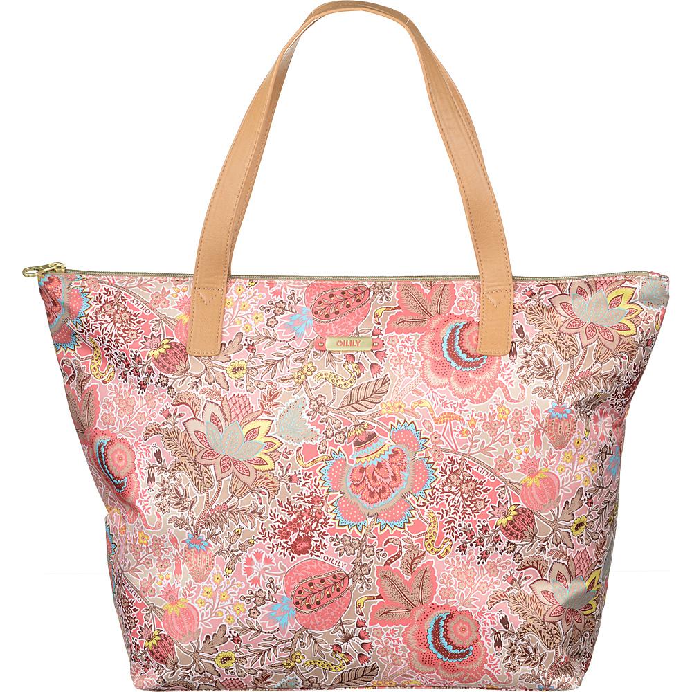 Oilily Botanical Garden Beach Shopper Coral - Oilily Fabric Handbags