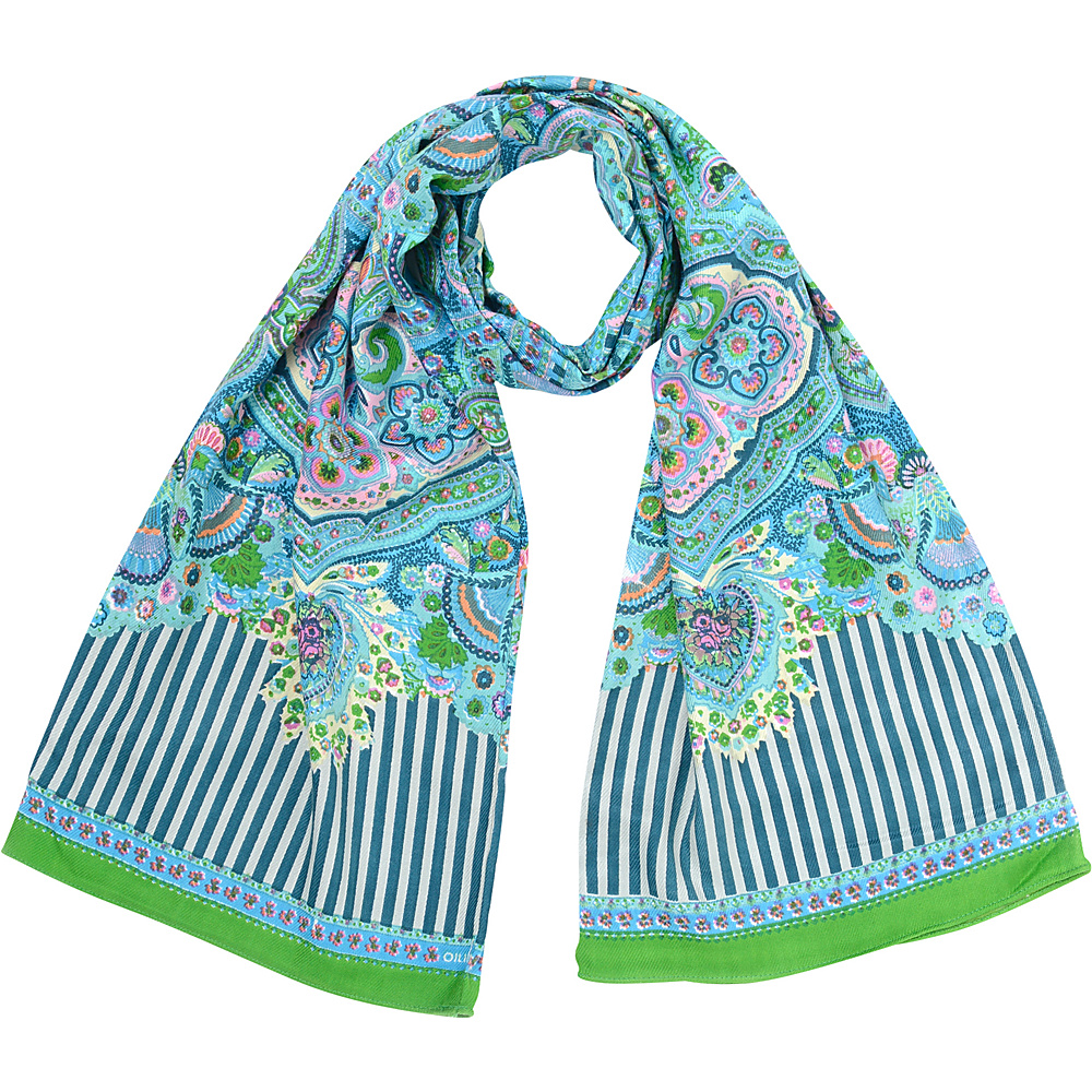 Oilily Flower Goa Green Oilily Hats Gloves Scarves