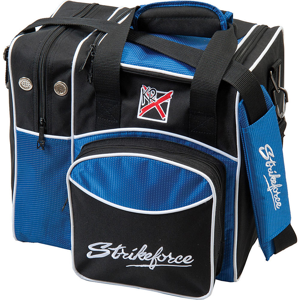 KR Strikeforce Bowling Flexx Single Bowling Ball Tote Bag Royal KR Strikeforce Bowling Bowling Bags