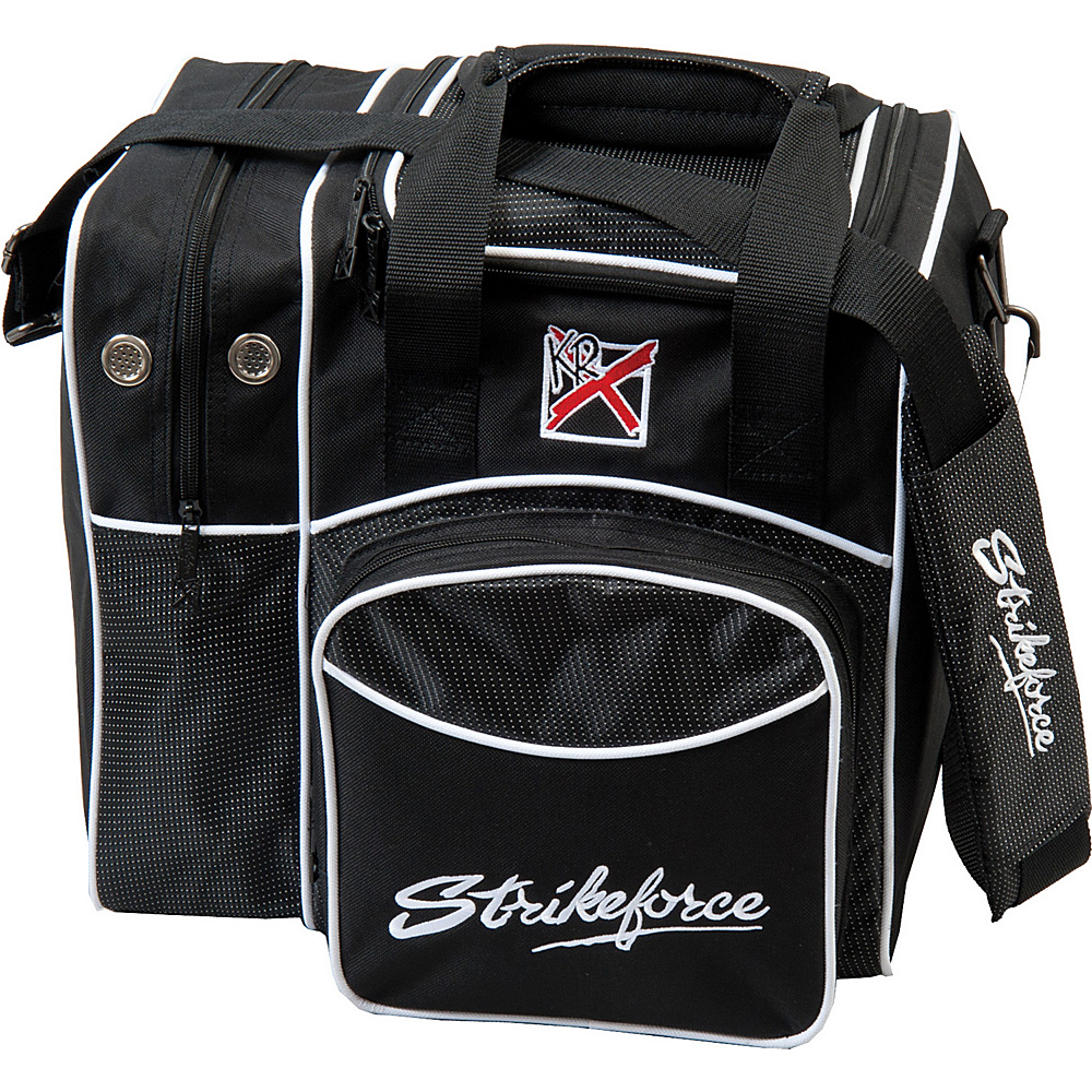 KR Strikeforce Bowling Flexx Single Bowling Ball Tote Bag Black KR Strikeforce Bowling Bowling Bags