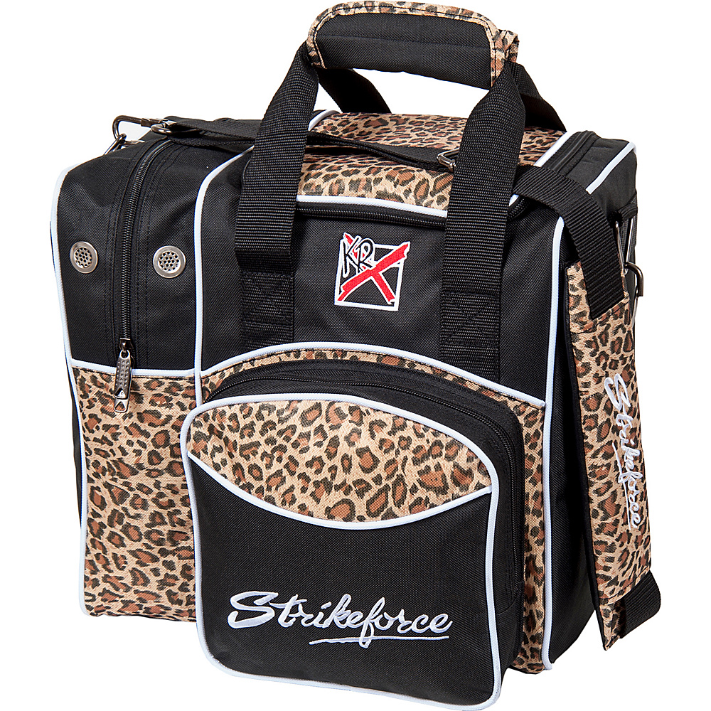 KR Strikeforce Bowling Flexx Single Bowling Ball Tote Bag Leopard KR Strikeforce Bowling Bowling Bags