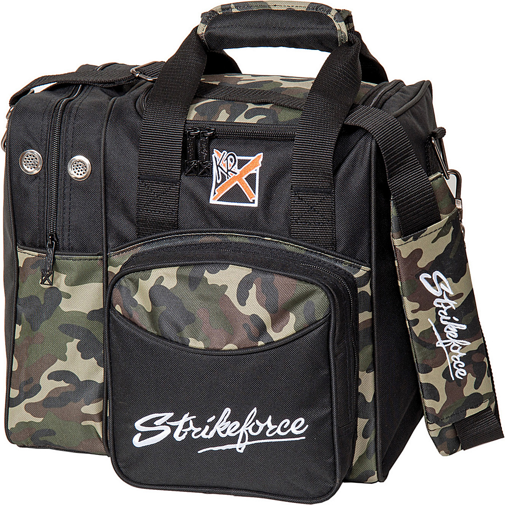 KR Strikeforce Bowling Flexx Single Bowling Ball Tote Bag Camo KR Strikeforce Bowling Bowling Bags