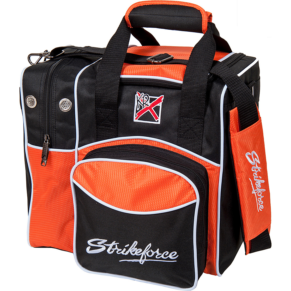 KR Strikeforce Bowling Flexx Single Bowling Ball Tote Bag Black Orange KR Strikeforce Bowling Bowling Bags