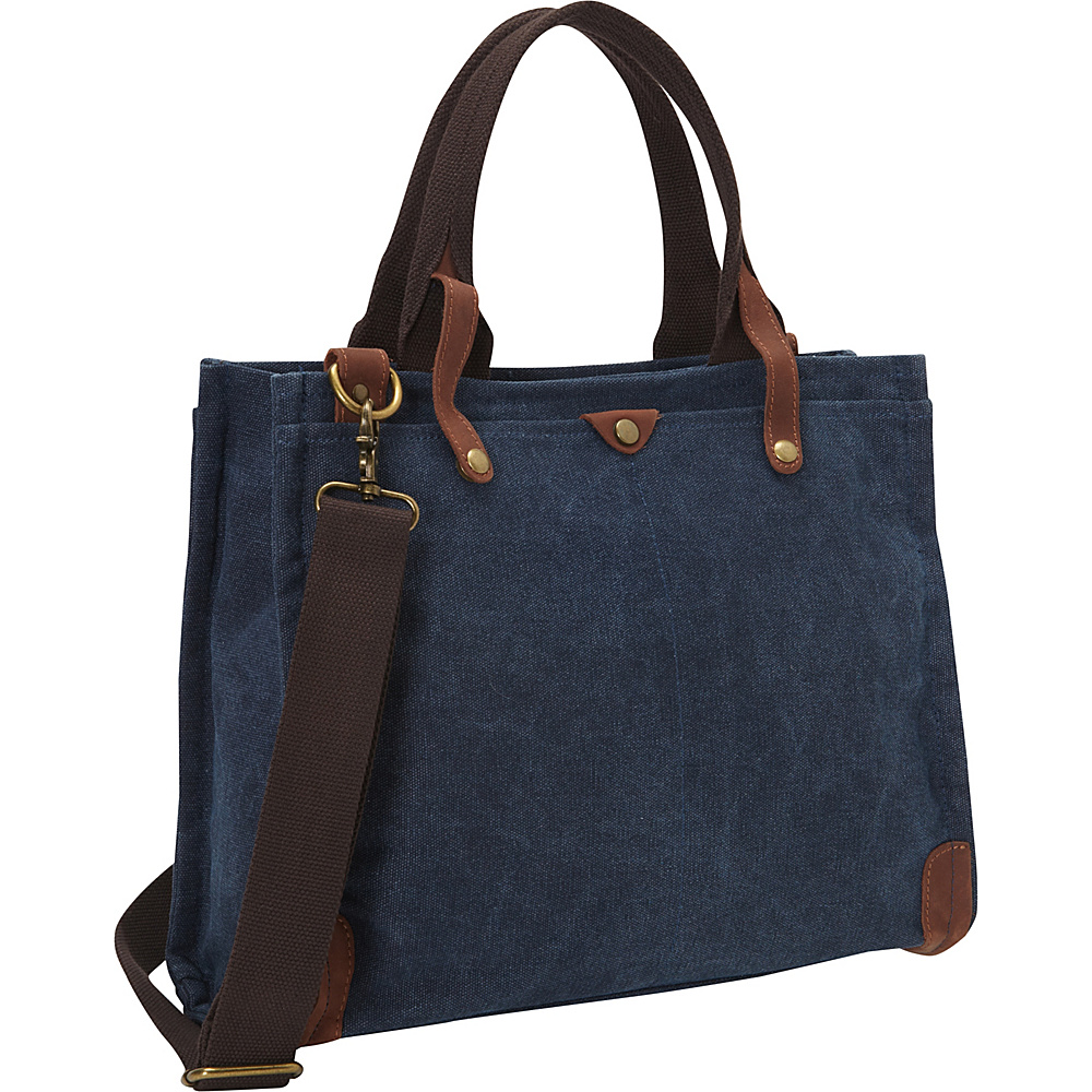 Laurex Canvas 13 Laptop Tote Bag Navy Laurex Other Men s Bags