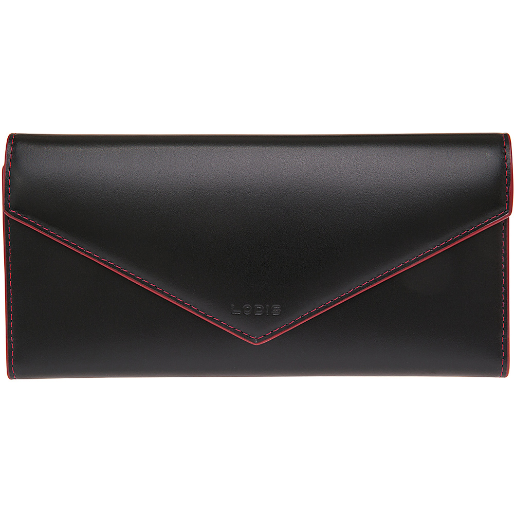 Lodis Audrey Alix Trifold Black Red Lodis Women s Wallets