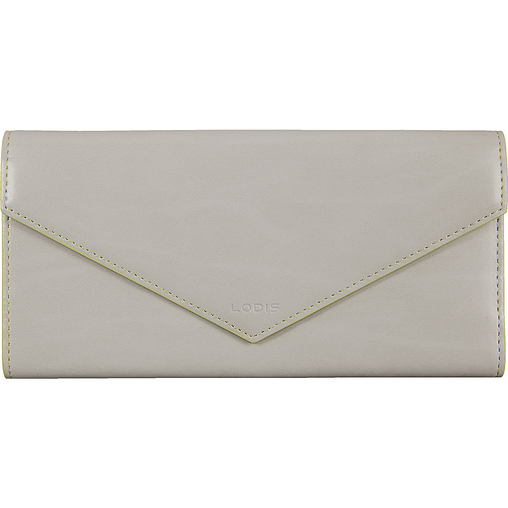 Lodis Audrey Alix Trifold Dove/Lime - Lodis Womens Wallets - Women's SLG, Women's Wallets
