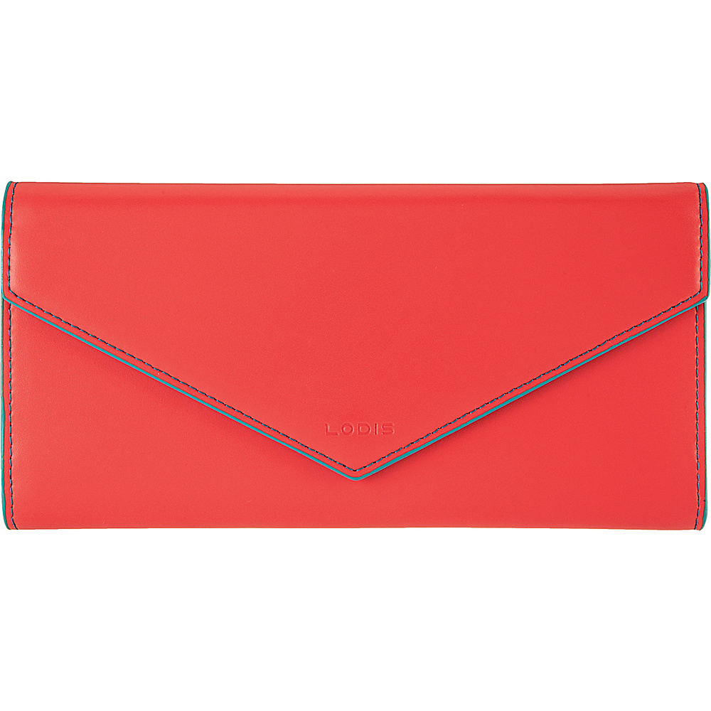 Lodis Audrey Alix Trifold Coral/Turquoise - Lodis Womens Wallets - Women's SLG, Women's Wallets