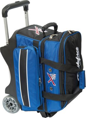 KR Strikeforce Bowling KR Strikeforce Bowling Royal Flush Double Bowling Ball Roller Bag Royal/Black - KR Strikeforce Bowling Bowling Bags