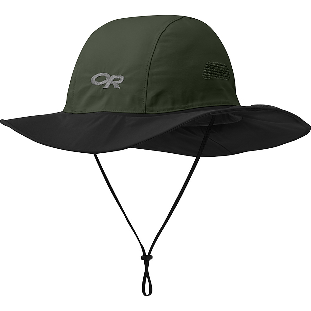 Outdoor Research Seattle Sombrero XL - Forest/Black - Large - Outdoor Research Hats/Gloves/Scarves - Fashion Accessories, Hats/Gloves/Scarves