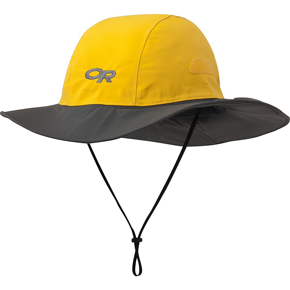 Outdoor Research Seattle Sombrero XL - Yellow/Dark Grey - Large - Outdoor Research Hats/Gloves/Scarves - Fashion Accessories, Hats/Gloves/Scarves