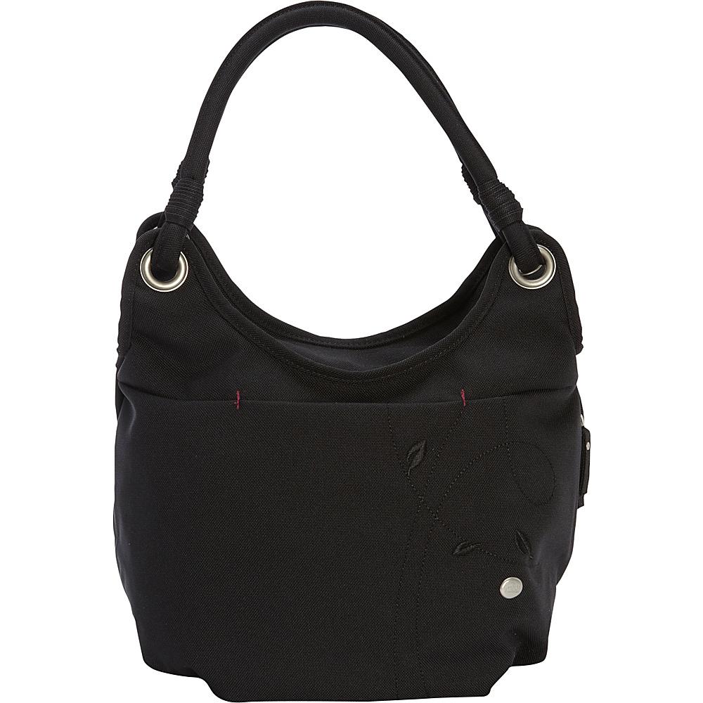 Haiku Stroll Shoulder Bag Black Haiku Fabric Handbags