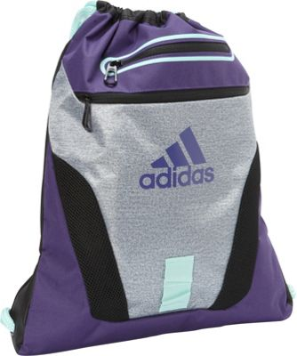 adidas Rumble Sackpack Heather Clear Grey/Unity Purple/Ice Green/Black - adidas Everyday Backpacks