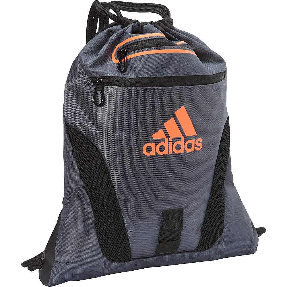 adidas Rumble Sackpack Deepest Space/Black/Solar Orange - adidas School & Day Hiking Backpacks