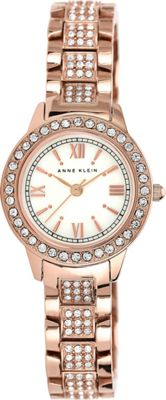 Anne Klein Watches Swarovski Crystal Accented Rose Gold-Tone Bracelet Watch Rose Gold - Anne Klein Watches Watches