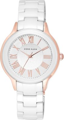 Anne Klein Watches Anne Klein Watches Rose Gold-Tone and White Ceramic Bracelet Watch WhiteRose Gold - Anne Klein Watches Watches