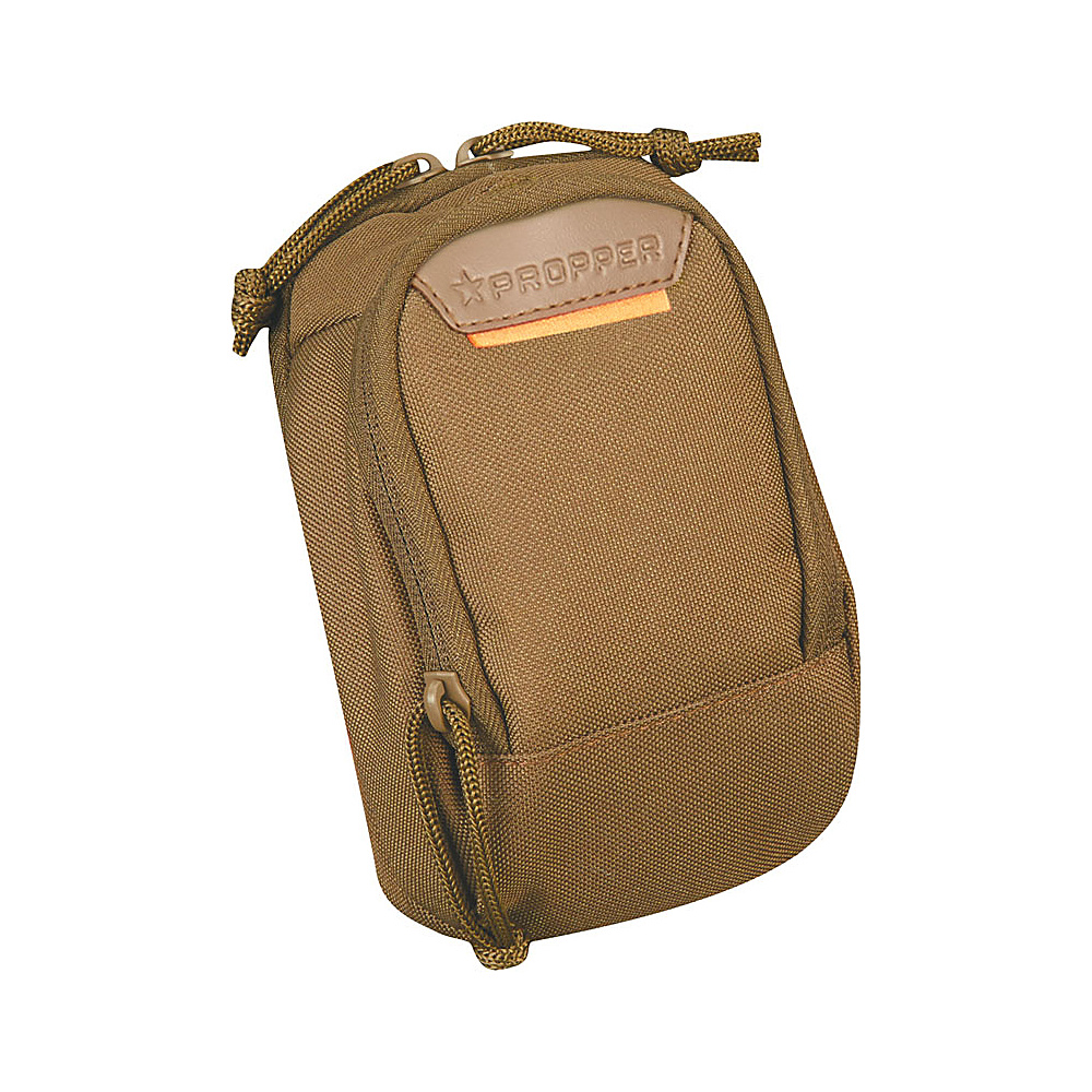 Propper Two Pocket Media Pouch with MOLLE Coyote Propper Camera Accessories