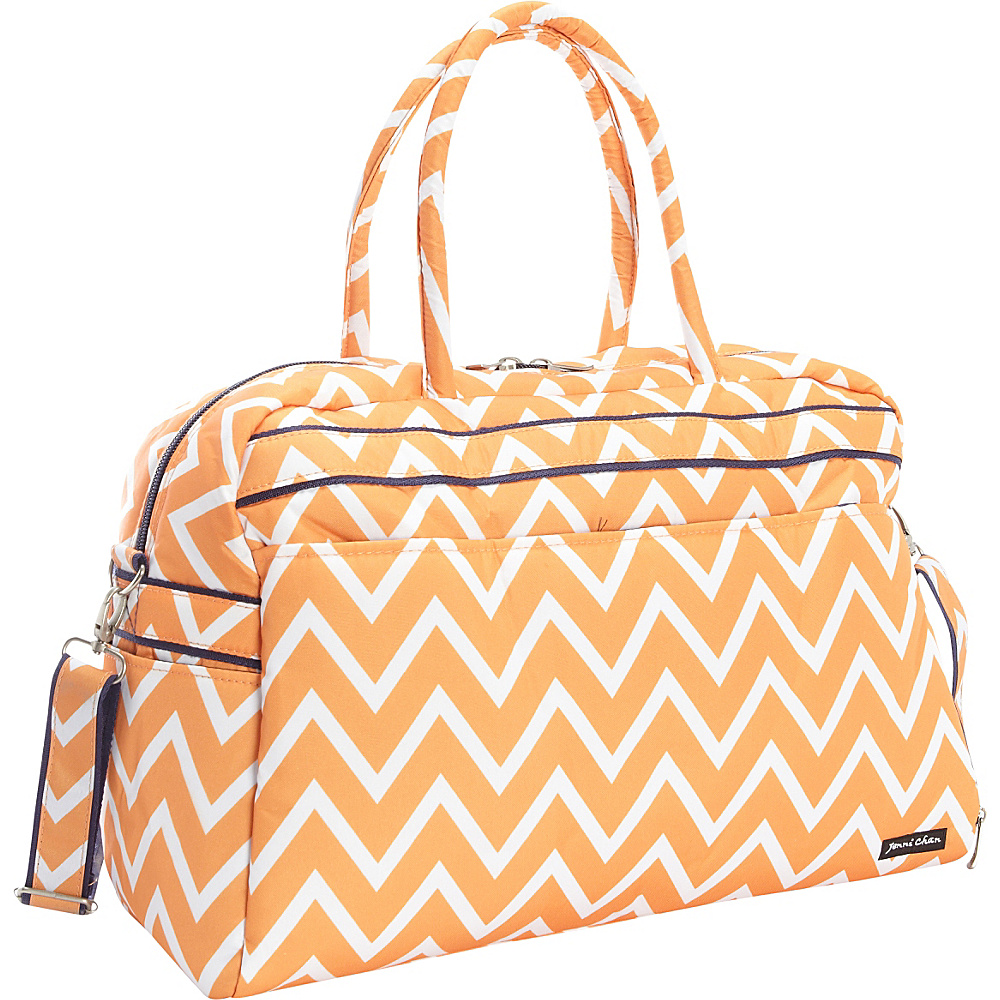 Jenni Chan Madison Soft Gym Duffel Orange Jenni Chan Travel Duffels