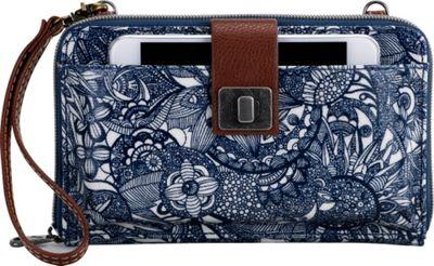 Sakroots Artist Circle Large Smartphone Crossbody Navy Spirit Desert - Sakroots Fabric Handbags