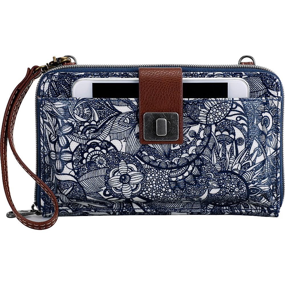 Sakroots Artist Circle Large Smartphone Crossbody Navy Spirit Desert - Sakroots Fabric Handbags - Handbags, Fabric Handbags