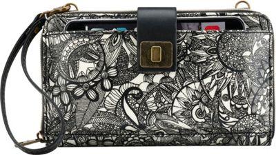 Sakroots Artist Circle Large Smartphone Crossbody Black and White Spirit Desert - Sakroots Fabric Handbags