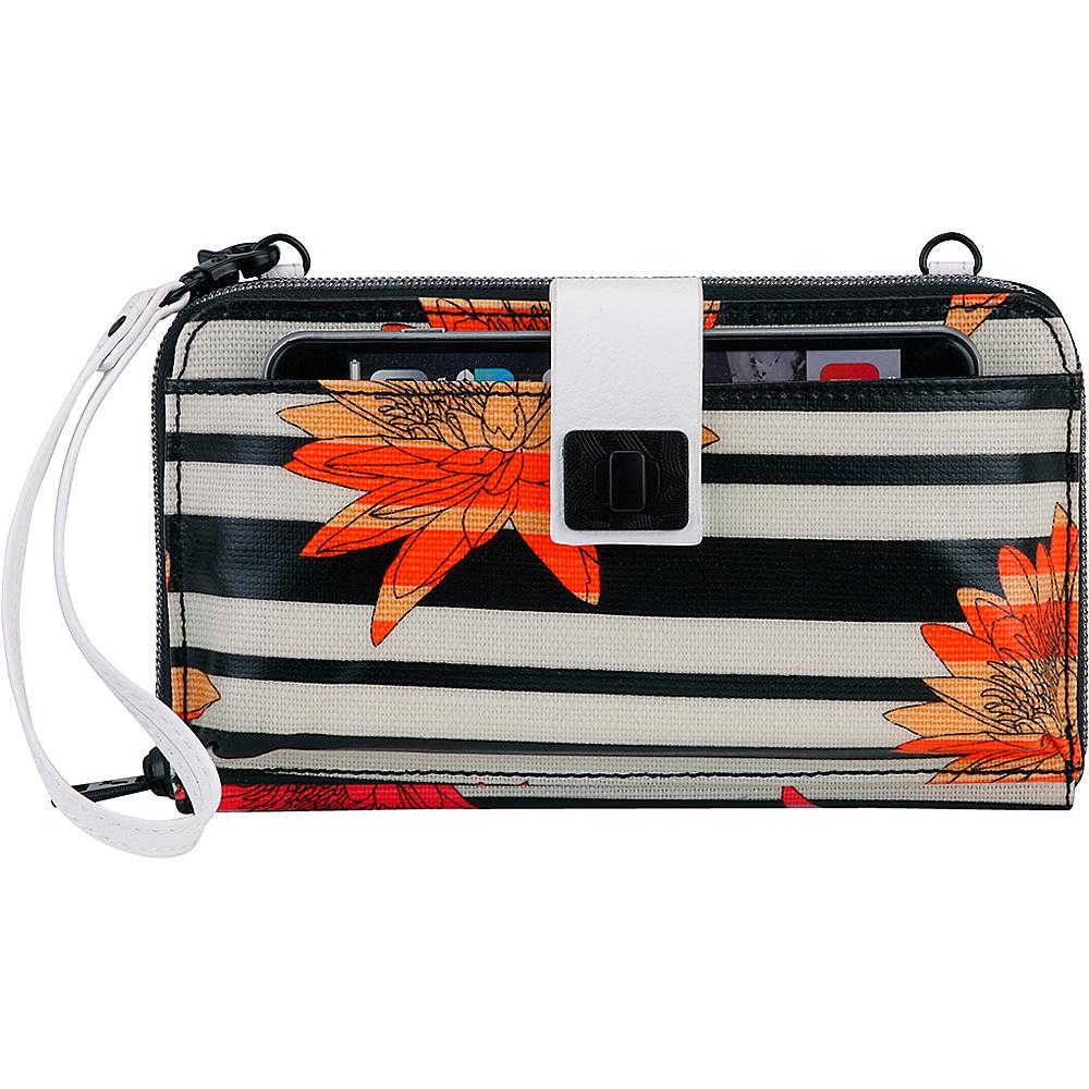 Sakroots Artist Circle Large Smartphone Crossbody Neon Zen Flower - Sakroots Fabric Handbags - Handbags, Fabric Handbags