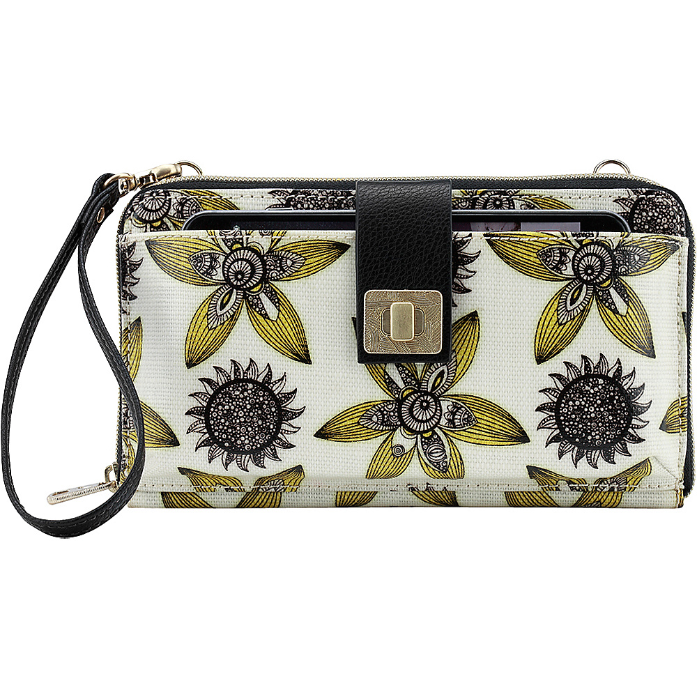 Sakroots Artist Circle Large Smartphone Crossbody Sunshine Sun Desert - Sakroots Fabric Handbags - Handbags, Fabric Handbags