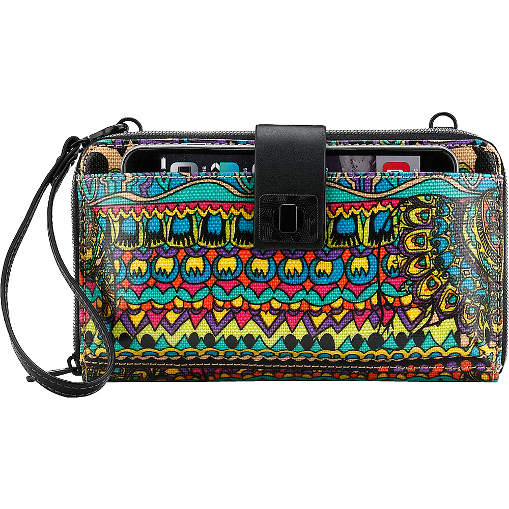 Sakroots Artist Circle Large Smartphone Crossbody Radiant One World - Sakroots Fabric Handbags - Handbags, Fabric Handbags