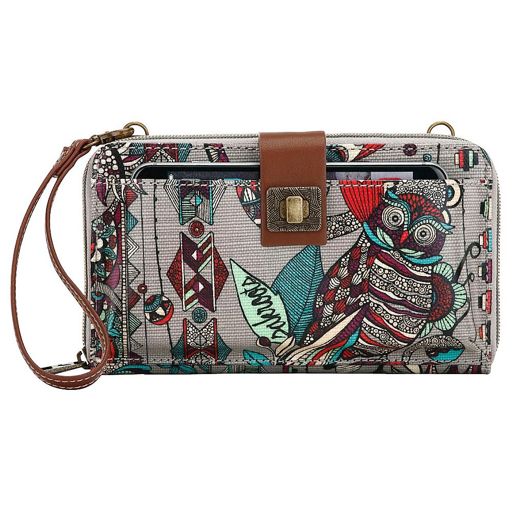 Sakroots Artist Circle Large Smartphone Crossbody Charcoal Spirit Desert - Sakroots Fabric Handbags - Handbags, Fabric Handbags