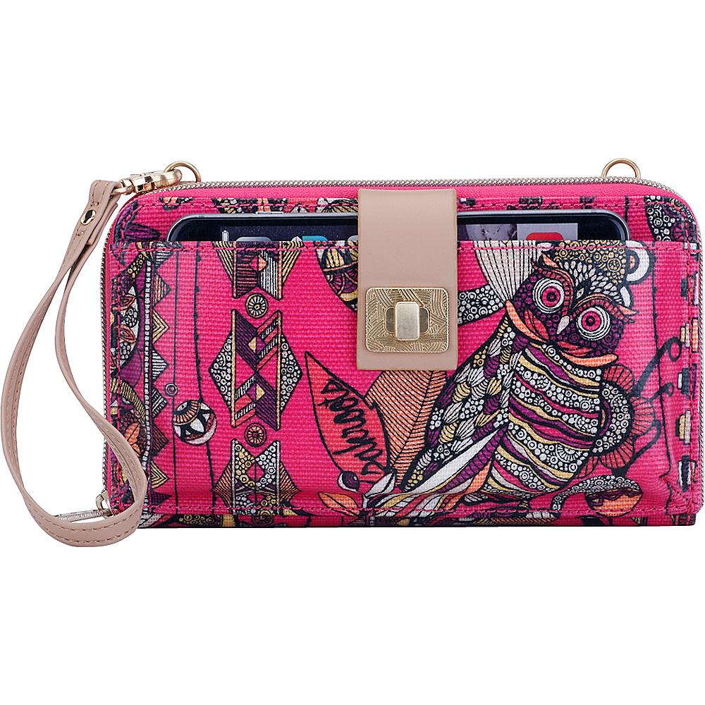 Sakroots Artist Circle Large Smartphone Crossbody Fuschia Spirit Desert - Sakroots Fabric Handbags - Handbags, Fabric Handbags