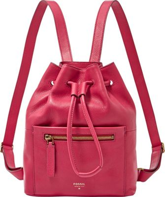 Fossil Vickery Drawstring Backpack Bright Pink - Fossil Leather Handbags