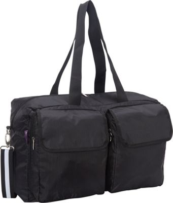 Sacs Collection by Annette Ferber Double Pocket Duffle Canvas Black - Sacs Collection by Annette Ferber Travel Duffels