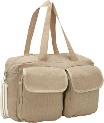 Sacs Collection by Annette Ferber Double Pocket Duffle Canvas Tan - Sacs Collection by Annette Ferber Travel Duffels