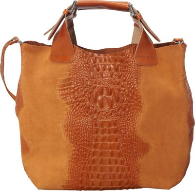 Sharo Leather Bags Italian Leather Handbag Tote Apricot - Sharo Leather Bags Leather Handbags